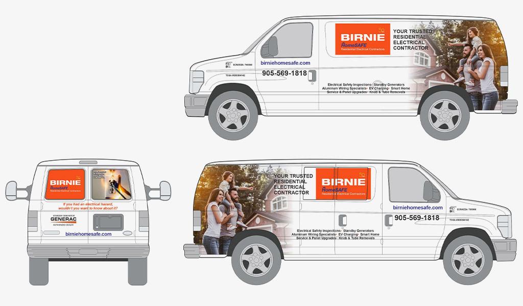 birnie homesafe van livery