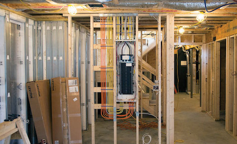 basement electrical construction