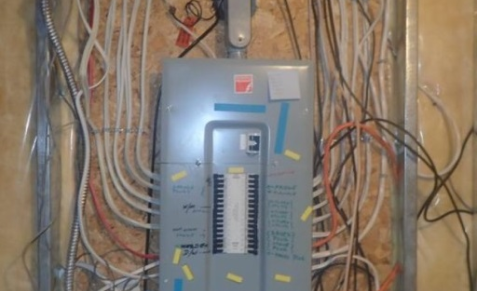 old electrical panel
