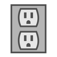 electrical recepticle icon