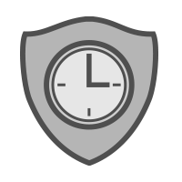 shield with clock icon