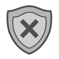 shield with x icon
