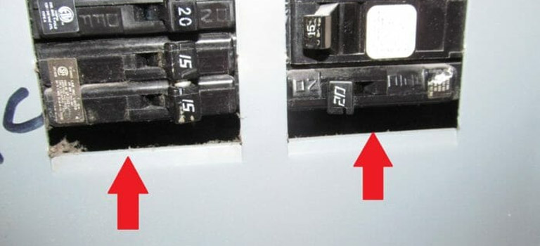 missing electrical panel knockouts