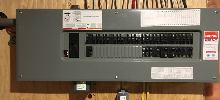 surge protector on electrical panel