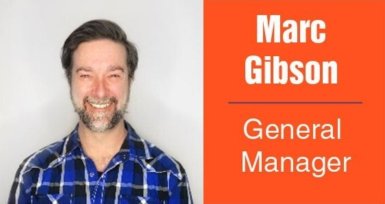 Marc Gibson, new general manager